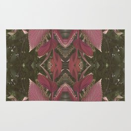 Red Shiso Warm Tones Pattern Rug