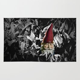 Garden Gnome with Gray background Rug