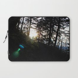 Lens flare through the trees Laptop Sleeve