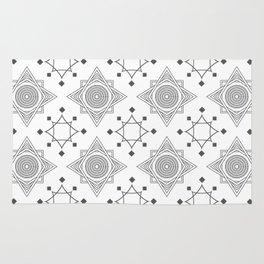 Art Deco grey white 30 . Rug