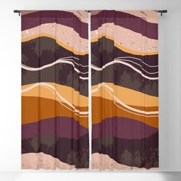 Abstract waves hand drawn illustration pattern Blackout Curtain
