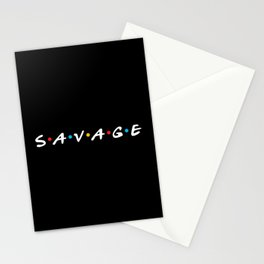 Savage Friends Logo - Black Stationery Cards
