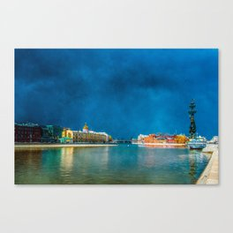 Snow Showers Over Moscow Canvas Print