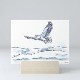 Flying Eagle, Hudson Valley (center) Mini Art Print