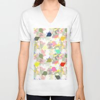 sport V-neck T-shirts featuring Graphic sport by Susiprint