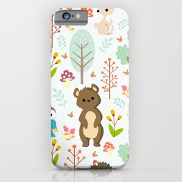 cute forest animals iPhone Case