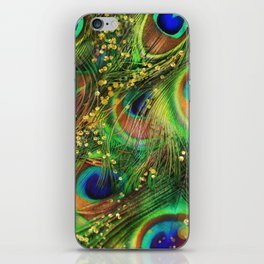 Fantasy Peacock Feathers iPhone Skin