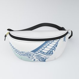 Fairytale whale underwater design Fanny Pack