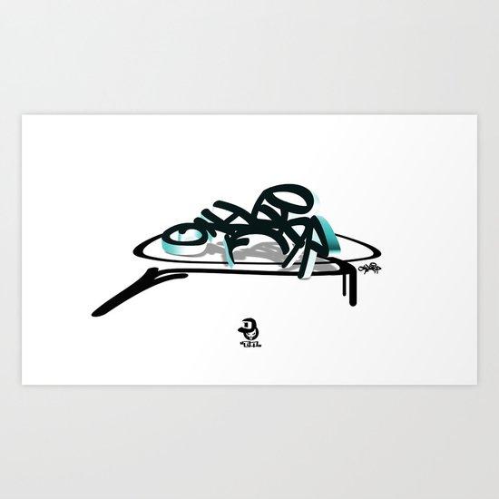 3d graffiti - ondbiqp Art Print