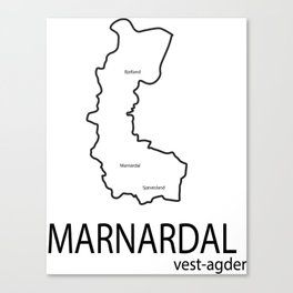 map of marnardal Canvas Print