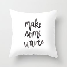 Make Some Waves Throw Pillow