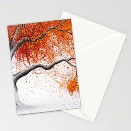 Orange Fall Tree Stationery Cards