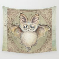bat Wall Tapestries featuring Bat Tito by Patrizia Ambrosini