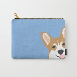 Corgi Peek  cute dog welsh corgi gift unique pet customizable gifts for dog lovers Carry-All Pouch