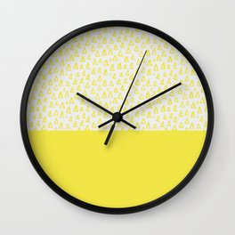 Triangles yellow Wall Clock