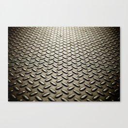 Metal Diamond Plate flooring Canvas Print