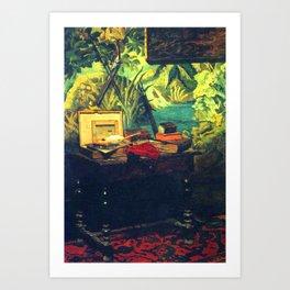 A Corner of the Studio by Claude Monet in 1861 Art Print