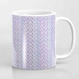 Lilac Abstract Fish Net Loop Pattern Coffee Mug