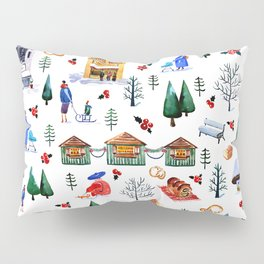 Winter in the City Pillow Sham
