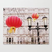 lanterns Canvas Prints featuring Lanterns by Judith Kimber Photography