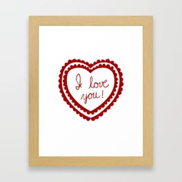 I love you heart Framed Art Print