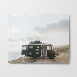 Campervan travel adventure in Portugal | Lagos sunset art print  Metal Print