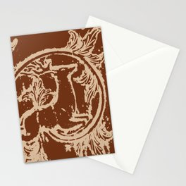 Chocolate Asheville Stags a Leaping Stationery Cards