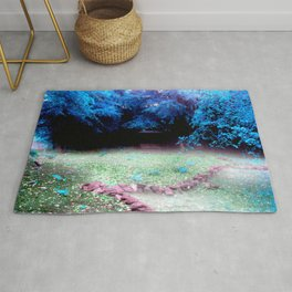 Enchanted Park Turquoise Rug