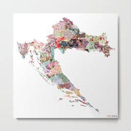Croatia map Metal Print