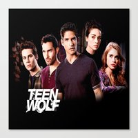 teen wolf Canvas Prints featuring teen wolf by kikabarros