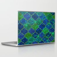 moroccan Laptop & iPad Skins featuring Glitter Moroccan by Saundra Myles