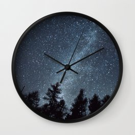 Milky Way in the Woods | Nature and Landscape Photography Wall Clock