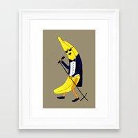 banana Framed Art Prints featuring Banana by Anna Shell