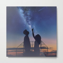 We Watched The Stars Our Last Day Together Metal Print