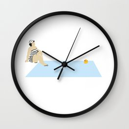 madame et canard Wall Clock