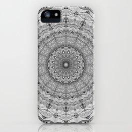 Mandala Project 626 | Black and White Lace Mandala iPhone Case