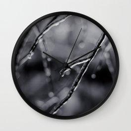 Crystal Twig Wall Clock