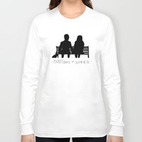 500 days of summer Long Sleeve T-shirts featuring (500) Days of Summer by ☿ cactei ☿