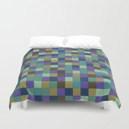 Blu Grid Duvet Cover