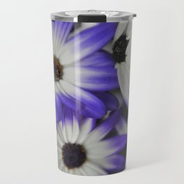 Blue & White Daisy Flowers #1 #floral #decor #art #society6 Travel Mug