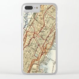 Weehawken, Union City & West New York Map (1935) Clear iPhone Case