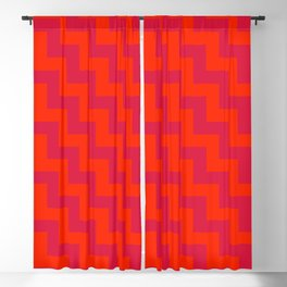 Scarlet Red and Crimson Red Steps LTR Blackout Curtain