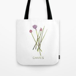Watercolor Chives Illustration Tote Bag