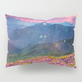 Blooming mountains Pillow Sham