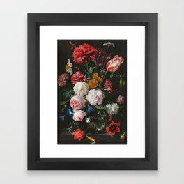 Still Life with Flowers by Jan Davidsz. de Heem Framed Art Print