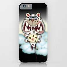 Funny Scared White Cat Balloon With Glasses Slim Case iPhone 6s