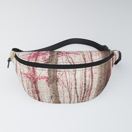 Pink and Brown Fantasy Forest Fanny Pack