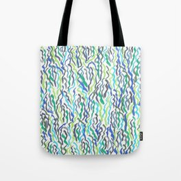 Blue and Green Seaweed Tote Bag