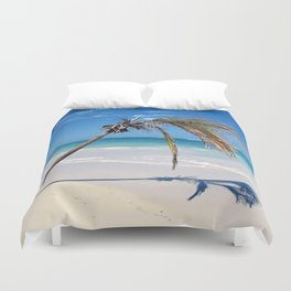 Landscape | Palm and Beach | Life's a Beach! | Nadia Bonello Duvet Cover