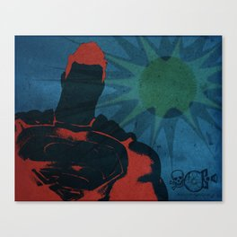 Super Hero - Reflection Of Home Canvas Print